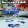 Custom dia 50mm transparent glossy circle waterproof vinyl adhesive labels with full colors printed for seal stickers