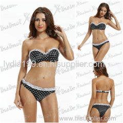 2015 Lastest Design Hot Fashion Sexy Girl Bandeau Bikini Retro