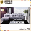 Designer furniture fabric sofa with longue