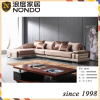 Solid wood furniture living room sets fabric sofa
