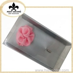 Luxury fabric flower brooch for men