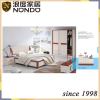 Bedroom wardrobe design in sliding door MDF bed