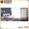 MDF double bed bedroom design with wardrobe