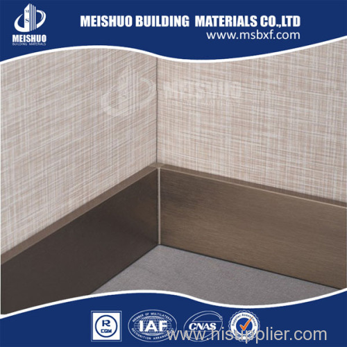 Aluminum skirting board for wall