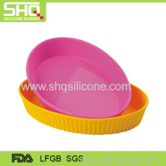 Colorful silicone dish plate