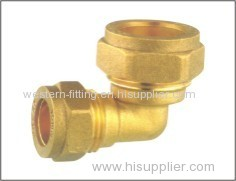 Brass Compression Elbow Forged Fitting