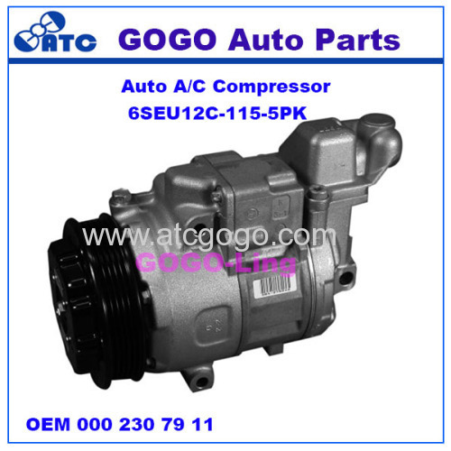 6SEU12C Auto A/C Compressor for Mercedes benz A-CLASS(W168) VANEO(414) OEM A 000 230 79 11 80 A 000 230 94 11