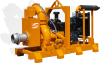 Diesel Engine Self Priming Trash Pump, Vacuum Prime Assist Pumps, Solid Handling