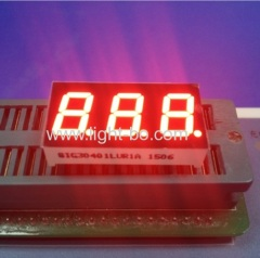 "Ultra Red 0.4"" 3 digit segment led display common cathode for Instrument Panel"