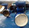 DN350 butt welding butterfly valve with ring