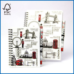 Ruled Spiral Notebook Pen and Diary Set