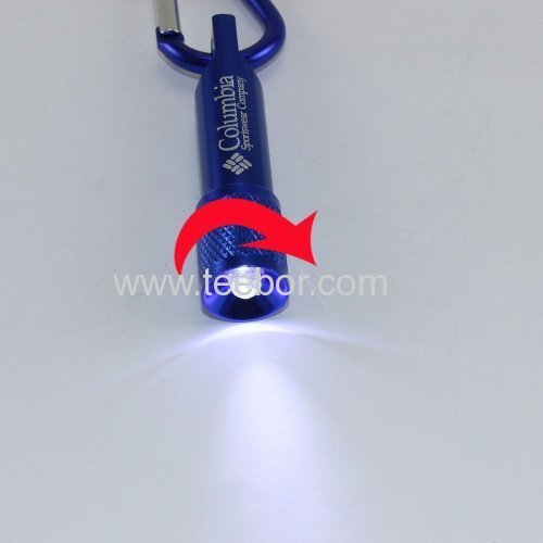 5 x Mini LED Flashlight Torch Lamp Light Keychain Keyring for Camping Carabiner Hiking