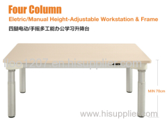 Sit To Stand Desk Four Column Workstation And Frame
