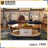 Shunde living room furniture oval solid wood tea/side table