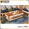 Guangzhou furniture living room coffee table oval solid wood tea/side table
