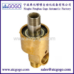 "Two-way Right-hand thread high temperature steam rotary joint water rotating connector 1/8 to 3"" brass swivel fitting"