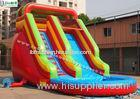 Red Commercial Grade Inflatable Bounce House Water Slide for Residential