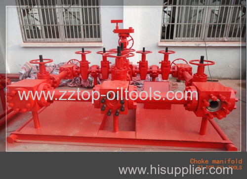Wellhead 3 1/8  x 5000 psi High Pressure Choke Manifold for drilling service