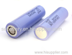 Rechargeable li-ion 18650 samsung battery
