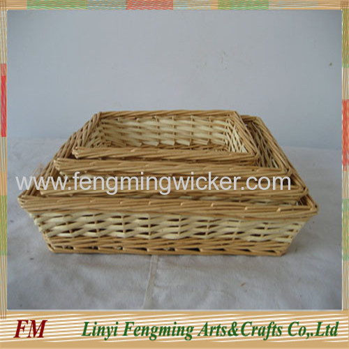 Gift willow basket with lid