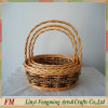purple woven willow gift storage basket