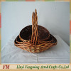 Red Ribbon Empty Wicker Gift Basket