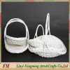 5pcs wicker wedding flower basket