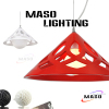Home Lighting Cone Shape Resin Pendant Light Energy Save Lamp For Indoor Dining Room