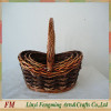 willow flower basket with red liner