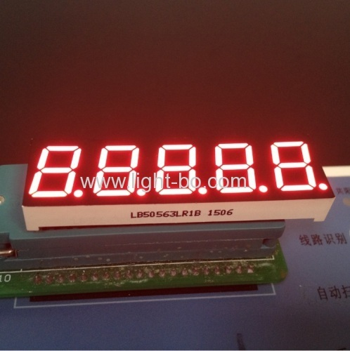 Custom super red 6 digit 0.56  7 segment led display common cathode for digital weighing scale indicator