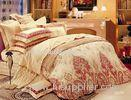 Artistic Bright Cotton Sateen Bedding Sets For Hotel , Bedroom Sheet Sets