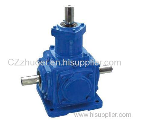 T Spiral Bevel Gearbox Speed Reducer Cast Iron Gearbox Low Noise