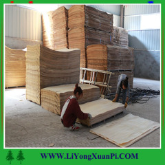 Natural face veneer olive wood 4*8 red olive face veneer supplier in China
