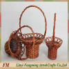 cheap wicker 2-tier wire fruit basket