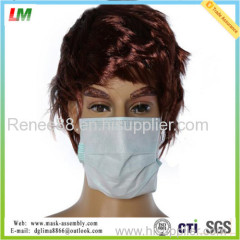 Disposable Medical Protective 3ply Nonwoven Face Mask