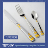 Chrismas gift Royal gold plated 304 stainless steel cutlery set