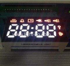 Custom Ultra Red & Ultra White 4 Digit 7 Segment LED Display Common Anode for gas cookers