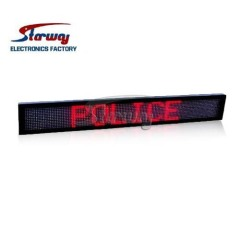Police Warning LED Message Screen