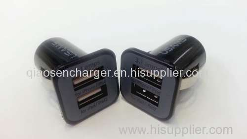 2 USB USAMS car charger for mobile phone