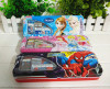 Disney lovely metal tin pencil case with hinged lid