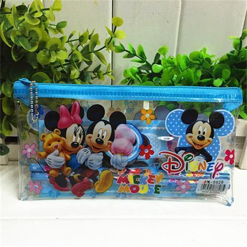 Plastic pencil bag with zipper