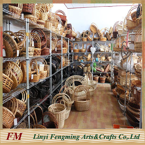 wicker flower baskets with handles