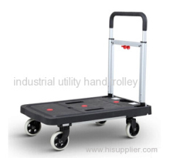 Folding plastic mute platform hand truck with wheels