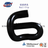 elastic rail clip pandrol clip, spring steel rail E clip made in China, railway high tensile rail clip fasteners
