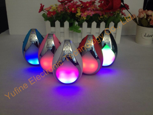 Supply 2015 new drop of water wireless Bluetooth speaker LED flash light Bluetooth speaker fashion wireless Bluetooth