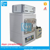 Laboratory compact sliding horizontal CVD tube furnace with digital gauge and vacuum pump