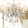 Fabric Pendant Lamp with Crystal fabric hollow pendant lamp cloth art decoration lamp