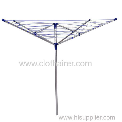 50m 4-Arm Aluminum Garden Outdoor Use Rotary Clothes Dryer
