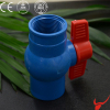 Blue Screw PVC Butterfly Handle Ball Valve