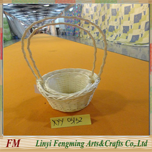 Newly Flower Handle basket in wicker Material for sale
